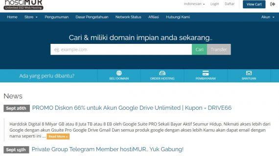 Cara Membeli Hosting Tanpa Beli Domain di hostiMUR